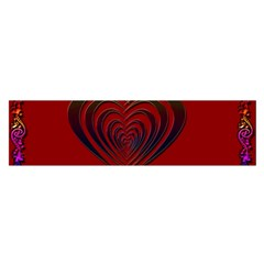 Red Heart Colorful Love Shape Satin Scarf (oblong)