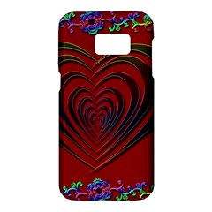 Red Heart Colorful Love Shape Samsung Galaxy S7 Hardshell Case