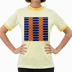 Pattern Design Modern Backdrop Women s Fitted Ringer T-Shirts