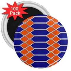 Pattern Design Modern Backdrop 3  Magnets (100 Pack)