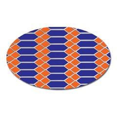Pattern Design Modern Backdrop Oval Magnet