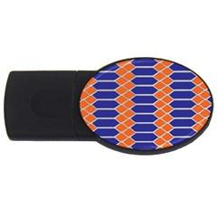 Pattern Design Modern Backdrop USB Flash Drive Oval (1 GB)