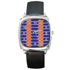 Pattern Design Modern Backdrop Square Metal Watch