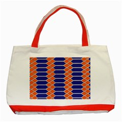 Pattern Design Modern Backdrop Classic Tote Bag (Red)