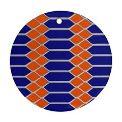 Pattern Design Modern Backdrop Round Ornament (Two Sides)