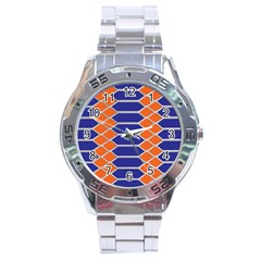 Pattern Design Modern Backdrop Stainless Steel Analogue Watch