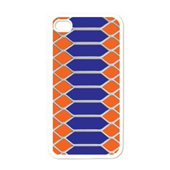 Pattern Design Modern Backdrop Apple iPhone 4 Case (White)
