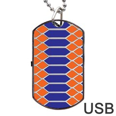 Pattern Design Modern Backdrop Dog Tag Usb Flash (one Side)