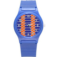Pattern Design Modern Backdrop Round Plastic Sport Watch (s)