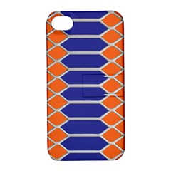 Pattern Design Modern Backdrop Apple Iphone 4/4s Hardshell Case With Stand
