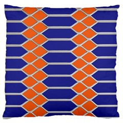 Pattern Design Modern Backdrop Large Flano Cushion Case (Two Sides)
