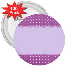 Purple Modern 3  Buttons (100 Pack)