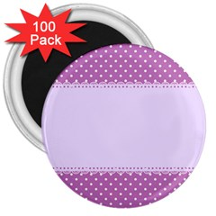 Purple Modern 3  Magnets (100 Pack)
