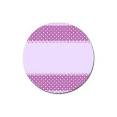 Purple Modern Magnet 3  (round)