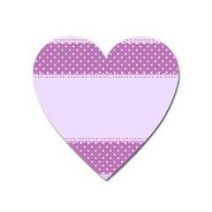 Purple Modern Heart Magnet