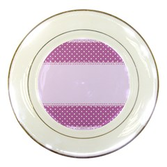 Purple Modern Porcelain Plates