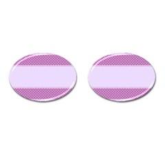 Purple Modern Cufflinks (Oval)