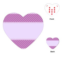 Purple Modern Playing Cards (heart)