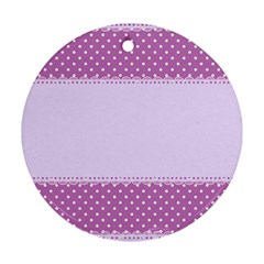 Purple Modern Round Ornament (Two Sides)