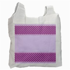 Purple Modern Recycle Bag (one Side)