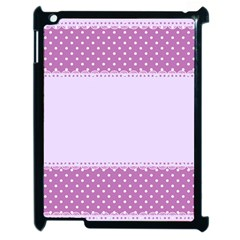 Purple Modern Apple iPad 2 Case (Black)