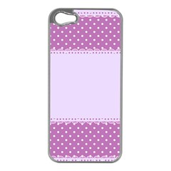 Purple Modern Apple Iphone 5 Case (silver)