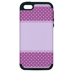 Purple Modern Apple Iphone 5 Hardshell Case (pc+silicone)