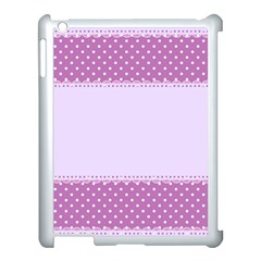 Purple Modern Apple Ipad 3/4 Case (white)