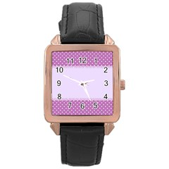 Purple Modern Rose Gold Leather Watch