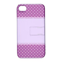 Purple Modern Apple iPhone 4/4S Hardshell Case with Stand