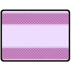Purple Modern Double Sided Fleece Blanket (Large)