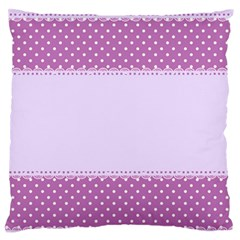 Purple Modern Large Flano Cushion Case (One Side)