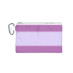 Purple Modern Canvas Cosmetic Bag (s)