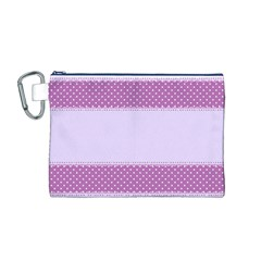 Purple Modern Canvas Cosmetic Bag (m)