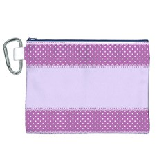Purple Modern Canvas Cosmetic Bag (XL)