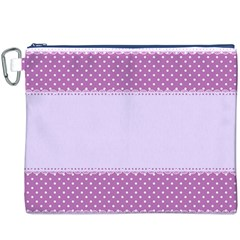 Purple Modern Canvas Cosmetic Bag (XXXL)