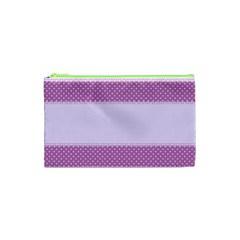 Purple Modern Cosmetic Bag (XS)