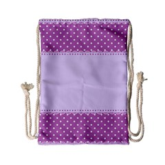 Purple Modern Drawstring Bag (Small)