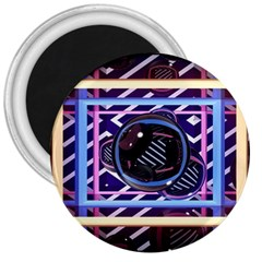 Abstract Sphere Room 3d Design 3  Magnets