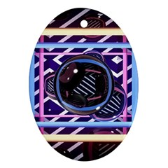 Abstract Sphere Room 3d Design Ornament (Oval)