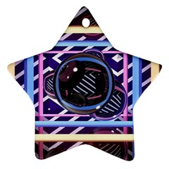 Abstract Sphere Room 3d Design Ornament (Star)