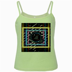 Abstract Sphere Room 3d Design Green Spaghetti Tank