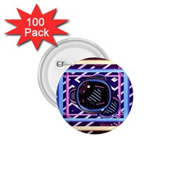 Abstract Sphere Room 3d Design 1 75  Buttons (100 Pack)