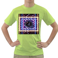 Abstract Sphere Room 3d Design Green T Shirt