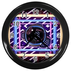 Abstract Sphere Room 3d Design Wall Clocks (Black)