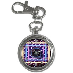 Abstract Sphere Room 3d Design Key Chain Watches