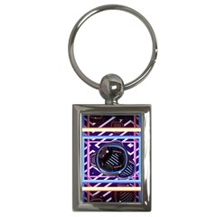 Abstract Sphere Room 3d Design Key Chains (rectangle)
