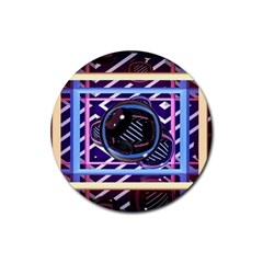 Abstract Sphere Room 3d Design Rubber Coaster (Round)