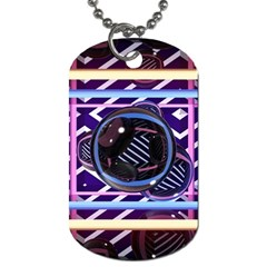 Abstract Sphere Room 3d Design Dog Tag (two Sides)