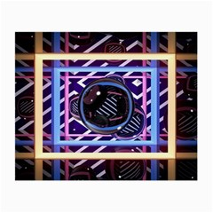 Abstract Sphere Room 3d Design Small Glasses Cloth